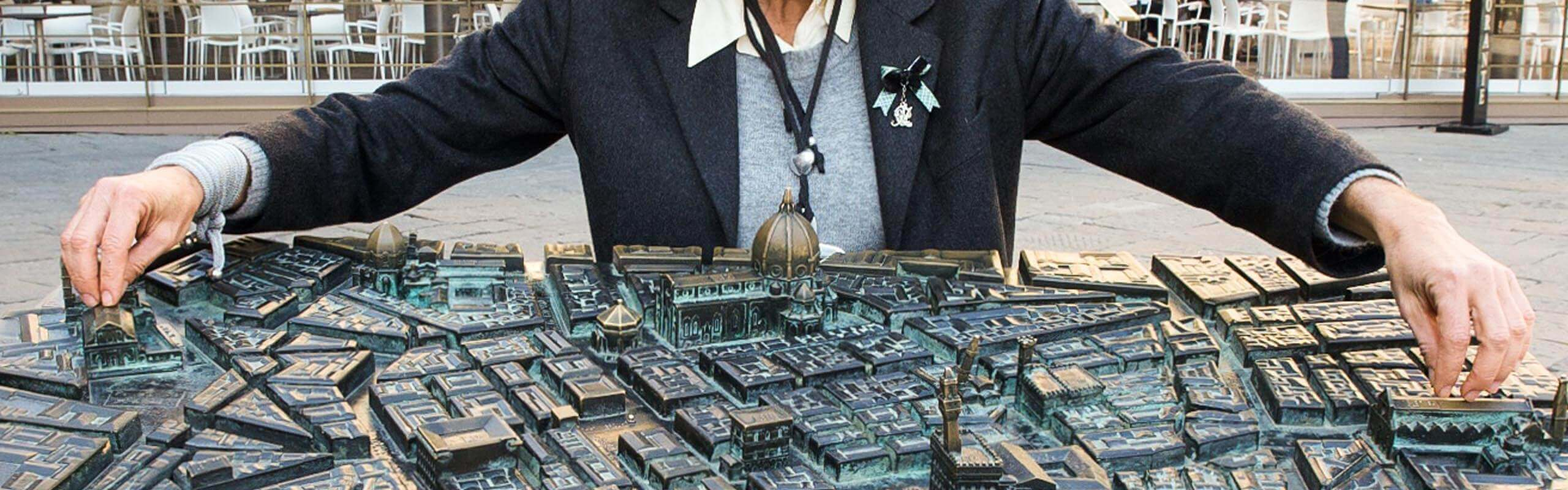 Tactile map of Florence